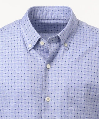 23区HOMME 【洗える】ペルヴィアンジオメトリックプリント シャツ ブルー系5