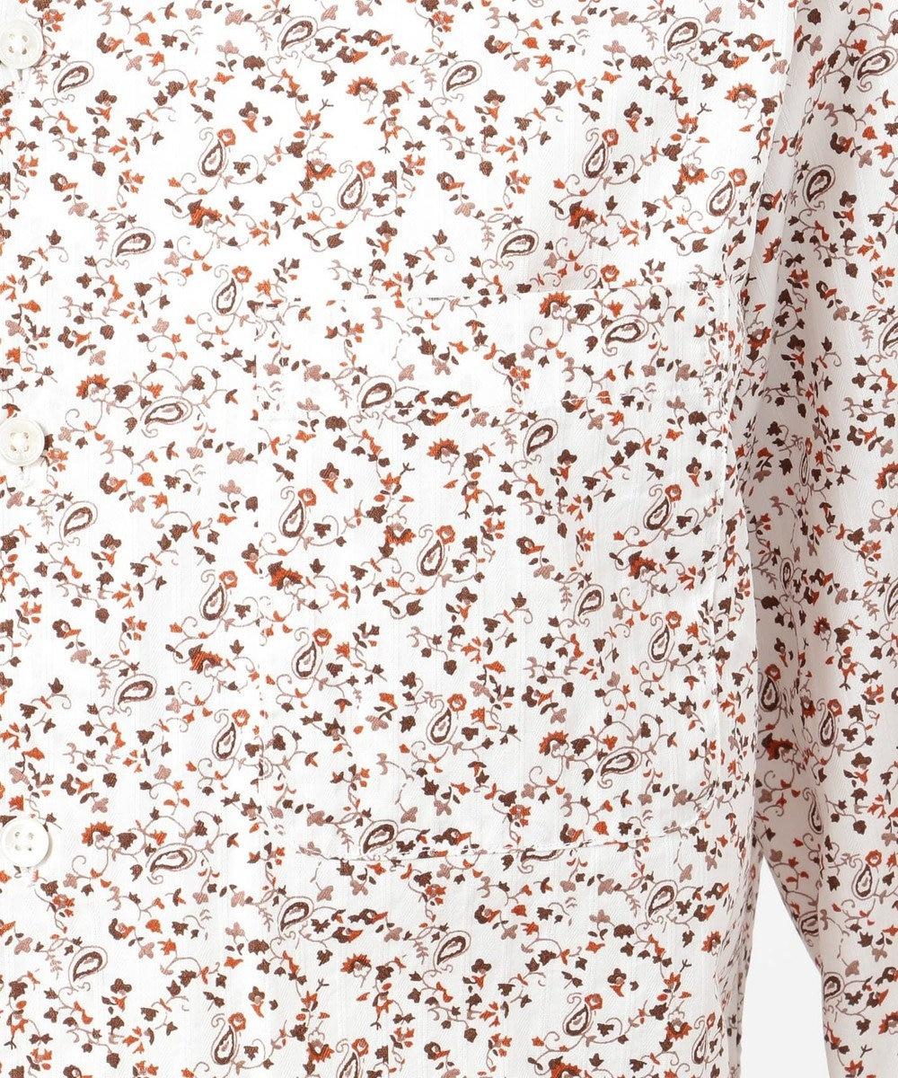 23区HOMME 【洗える】小花柄プリントドビー シャツ ブラウン系5