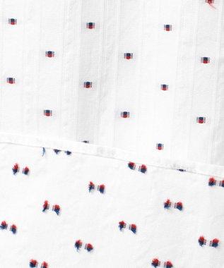 23区HOMME 【洗える】カットドビーストライプ シャツ ホワイト系