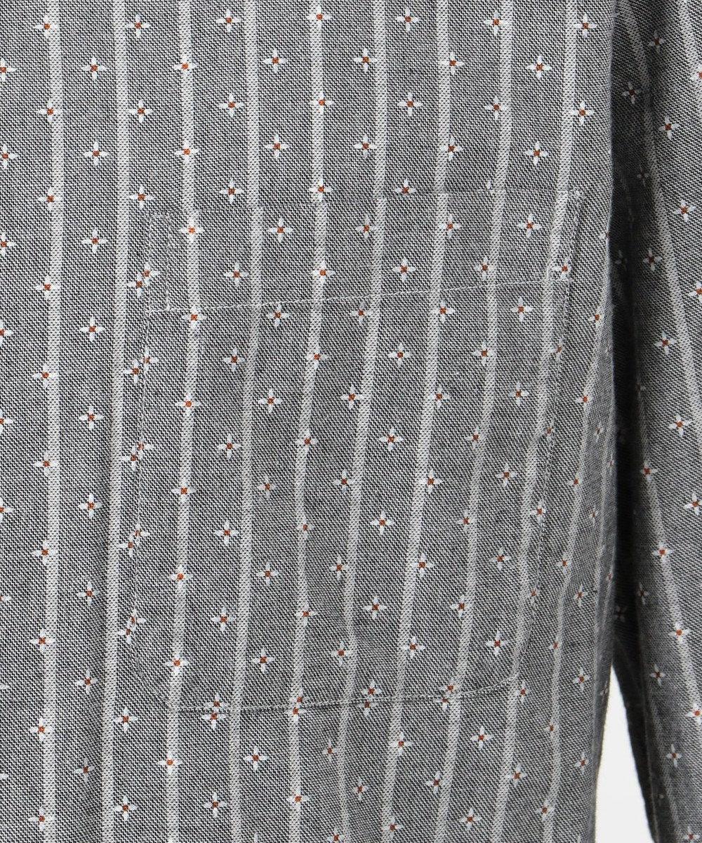 23区HOMME 【洗える】カシミヤタッチ小紋プリント シャツ グレー系5