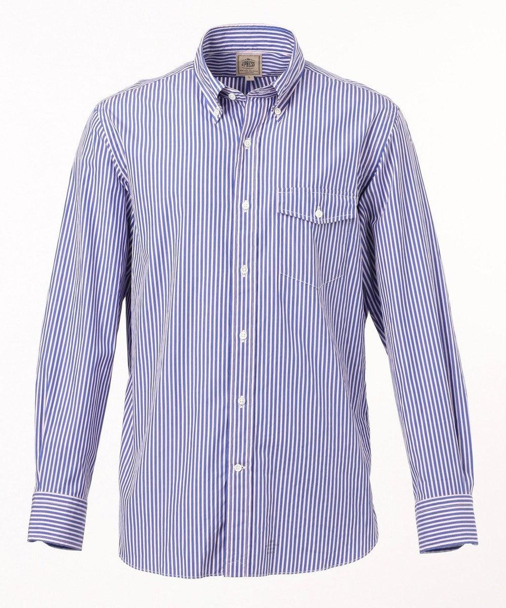 J.PRESS MEN 100/2 コットンマルチストライプ シャツ / ボタンダウン ブルー系1