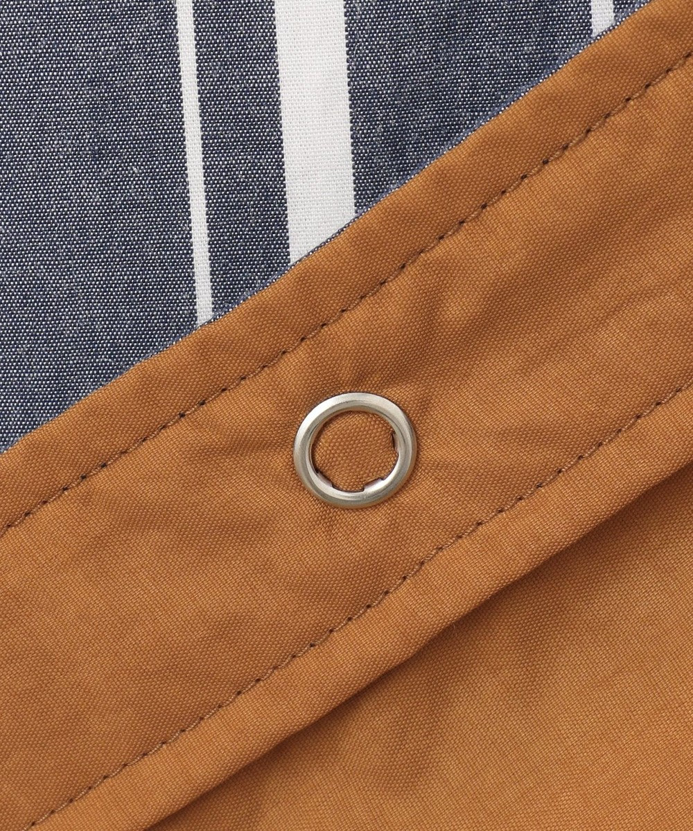 J.PRESS MEN 【リバーシブル】リブカラー ストライプシャツブルゾン ネイビー系1