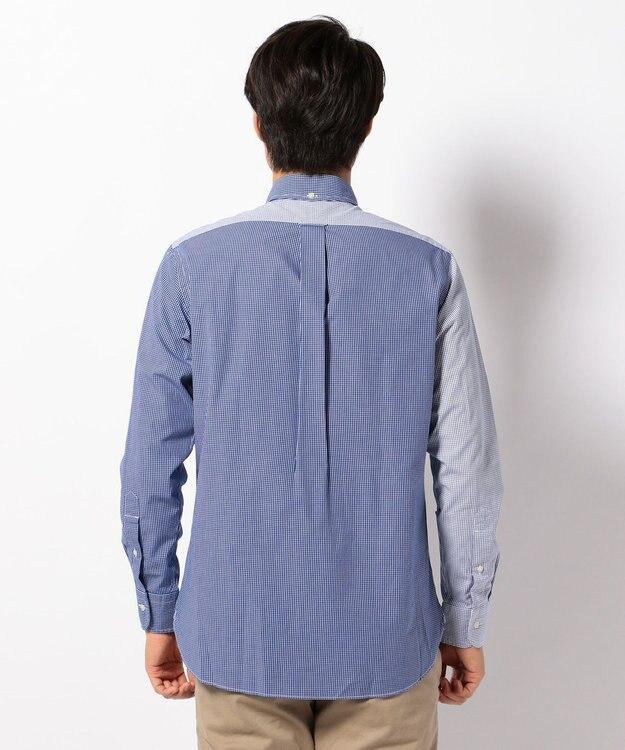 J.PRESS MEN 【WEB&一部店舗限定】クレイジー ブルーチェックグラデーション シャツ