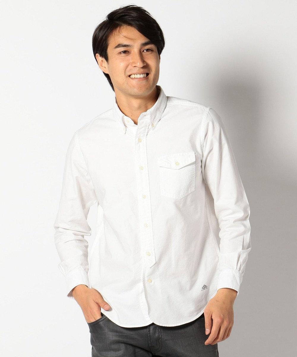 J.PRESS MEN AMERICANOX B.Dシャツ ホワイト系