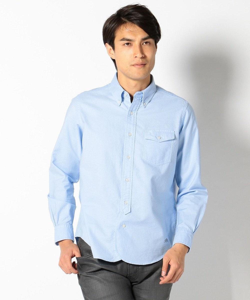 J.PRESS MEN AMERICANOX B.Dシャツ サックスブルー系