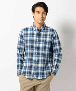 J.PRESS MEN COTTON COLORED CHECK B.Dシャツ ネイビー系4