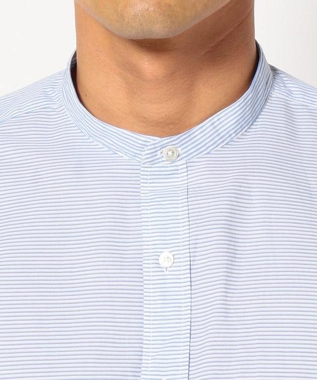 J.PRESS MEN ポプリンロンスト バンドカラーシャツ