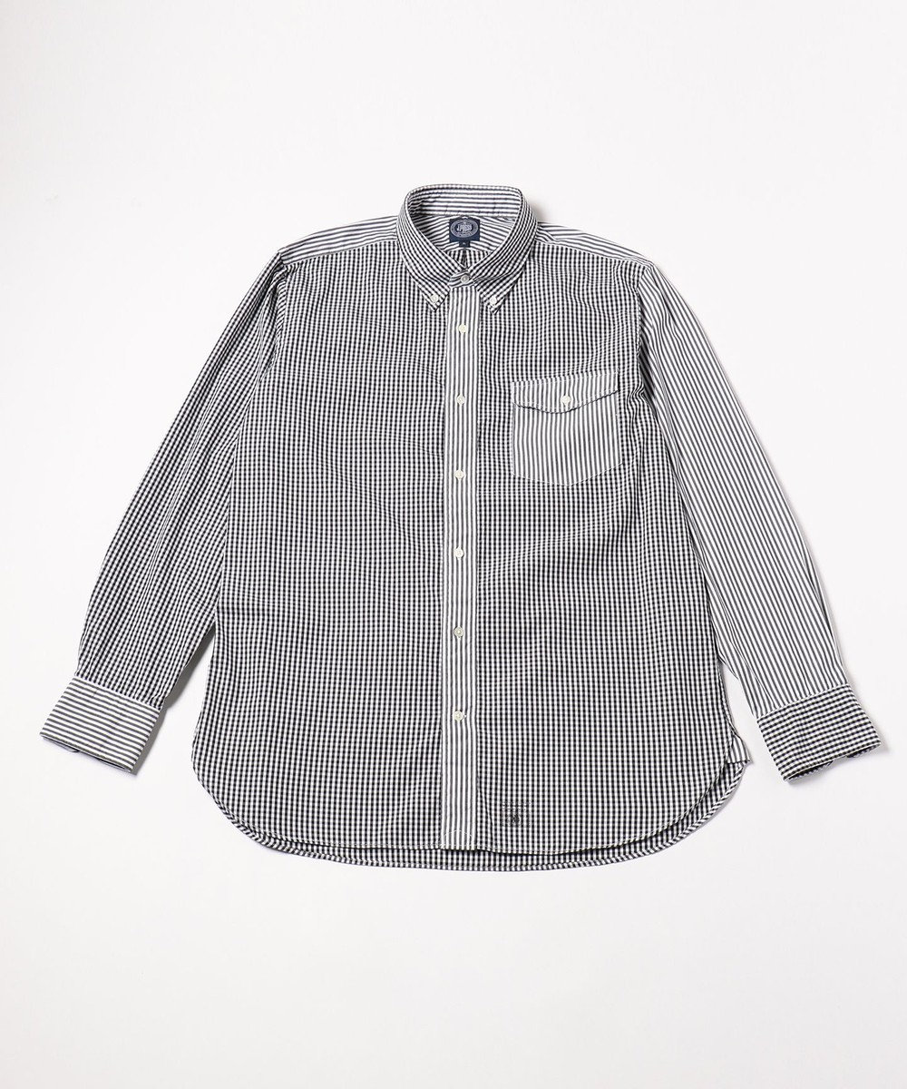 J.PRESS MEN 【キングサイズ】ハイカウントオックスクレイジー B.Dシャツ ブラック系8
