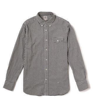 J.PRESS MEN メランジ シェパードチェック シャツ ブラック系3