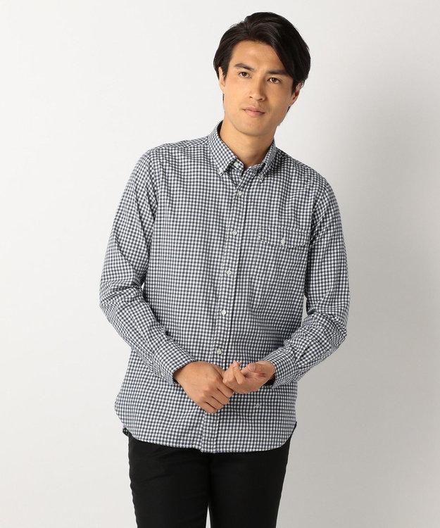 J.PRESS MEN メランジ シェパードチェック シャツ