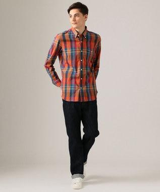 J.PRESS MEN インドマドラスチェック ボタンダウン シャツ ブルー系4