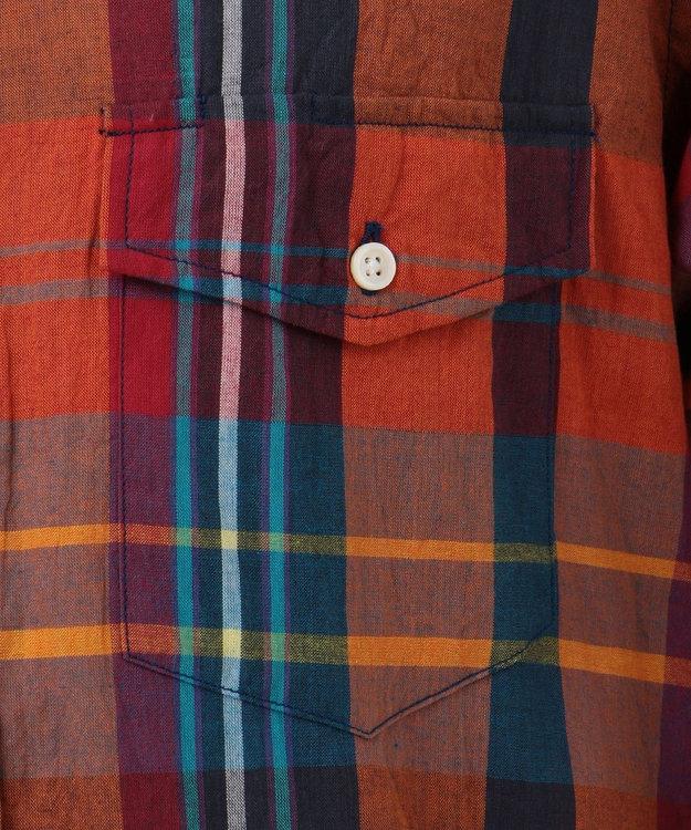 J.PRESS MEN インドマドラスチェック ボタンダウン シャツ