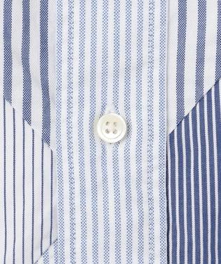 J.PRESS MEN OXポプリンストライプ アーガイルカット ボタンダウン シャツ ブルー系9