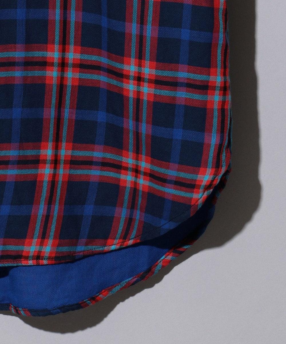 J.PRESS MEN ダブルガーゼマルチチェック パチフラシャツ / ボタンダウン ブルー系3