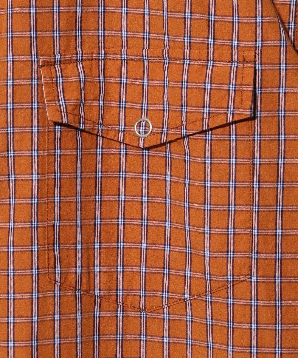 J.PRESS MEN 【FORZA STYLE 掲載】リブカラー リバーシブルシャツブルゾン オレンジ系3