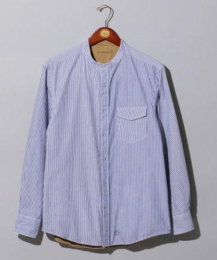 J.PRESS MEN 【FORZA STYLE 掲載】バンドカラー リバーシブルシャツブルゾン ブルー系1