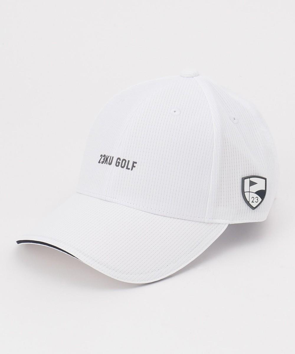 【オンワード】 23区GOLF>帽子 【UNISEX】クールドッツキャップ ホワイト F レディース 【送料無料】