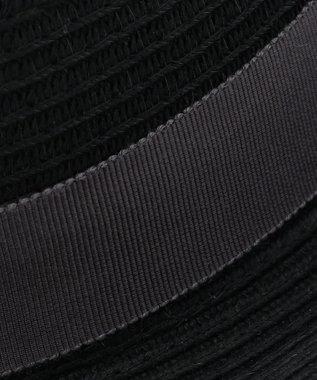 23区GOLF 【MEN】ブレード編み 中折れハット ブラック系