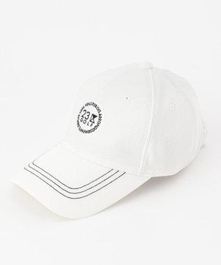 23区GOLF 【MEN】ツバ長クーリングキャップ ホワイト系