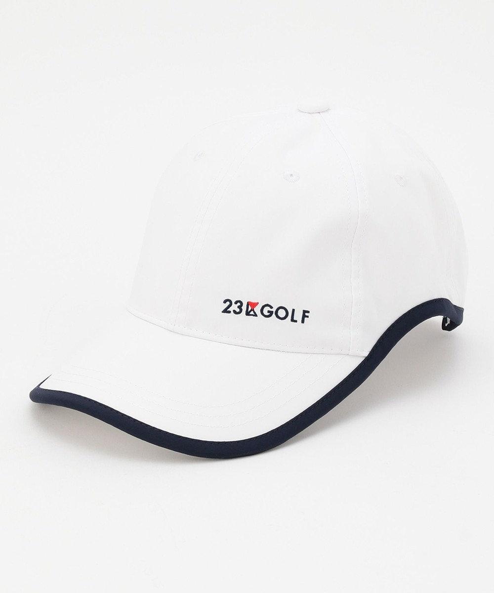 23区GOLF 【UNISEX】【撥水】ベーシック キャップ ホワイト系