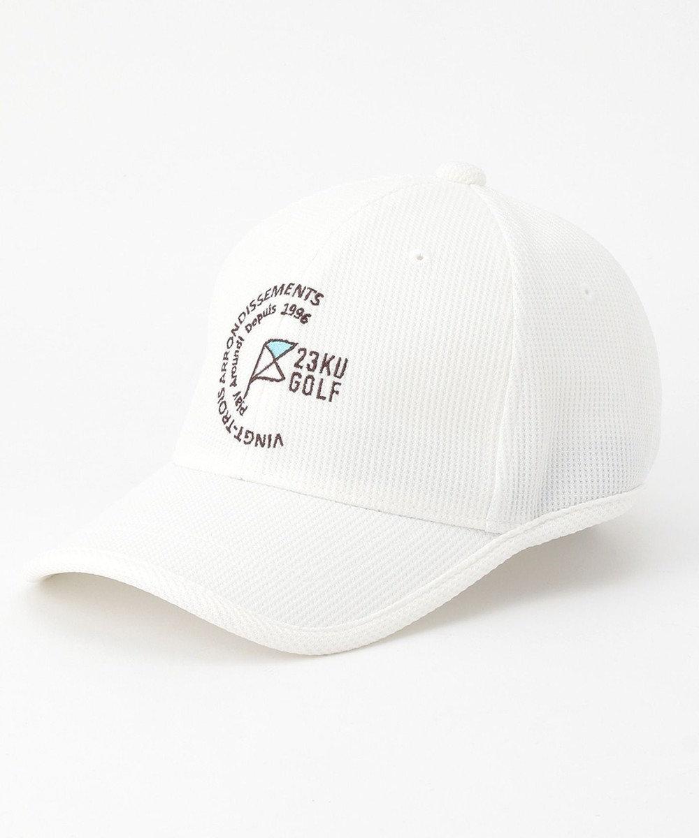 23区GOLF 【UNISEX】ミニワッフルキャップ ホワイト系