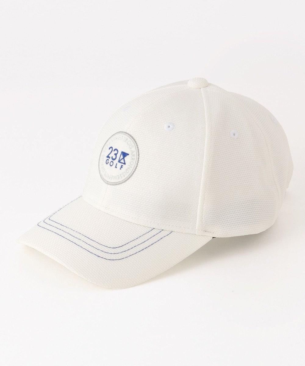 23区GOLF 【MEN】丸ワッペン キャップ ホワイト系