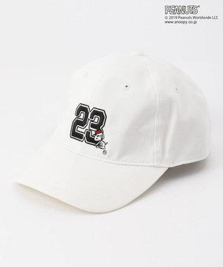 23区GOLF 【MEN】【PEANUTS】スヌーピー キャップ ホワイト系