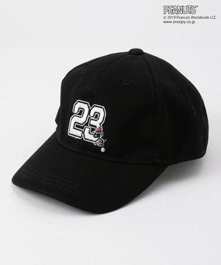 23区GOLF 【MEN】【PEANUTS】スヌーピー キャップ ブラック系