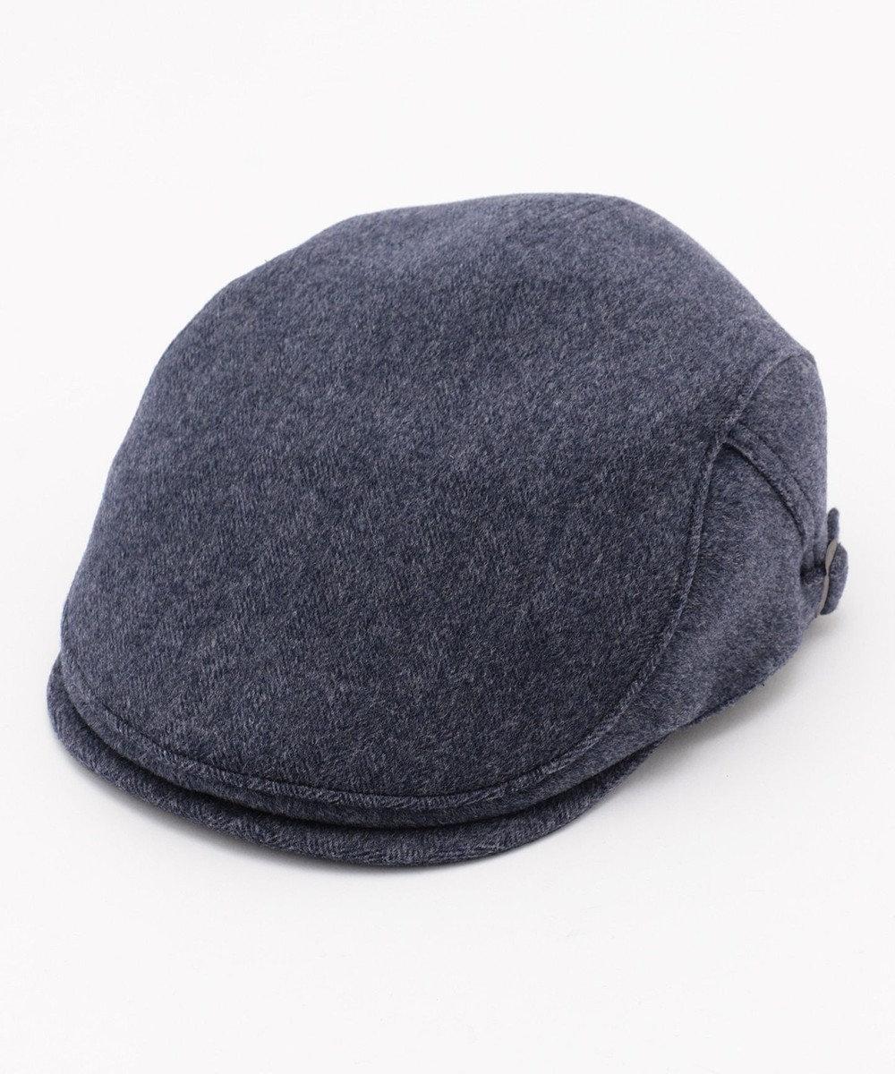 DAKS Super120s ヘリンボーンビーバー ハンチング帽 ダルブルー系8