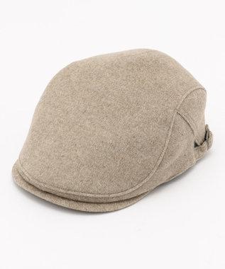 DAKS Super120s ヘリンボーンビーバー ハンチング帽 ベージュ系8