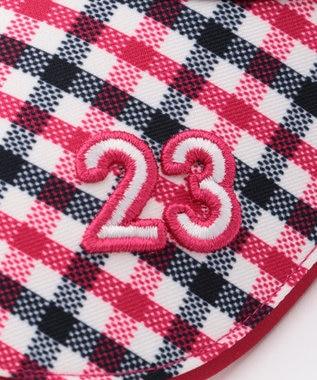23区GOLF 【WOMEN】チェック柄バイザー ローズ系3