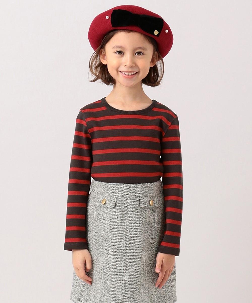 【オンワード】 組曲 KIDS>帽子 【WEB限定】ベレー帽(KJ53) レッド M キッズ 【送料無料】