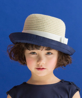 組曲 KIDS 【KIDS雑貨】ポリエステルブレード ハット ネイビー系