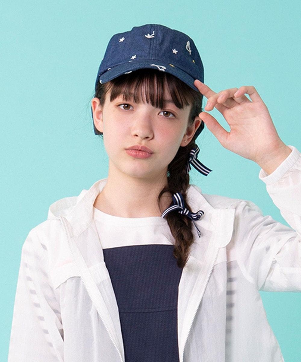 組曲 KIDS 【KIDS雑貨】デニム キャップ ネイビー系