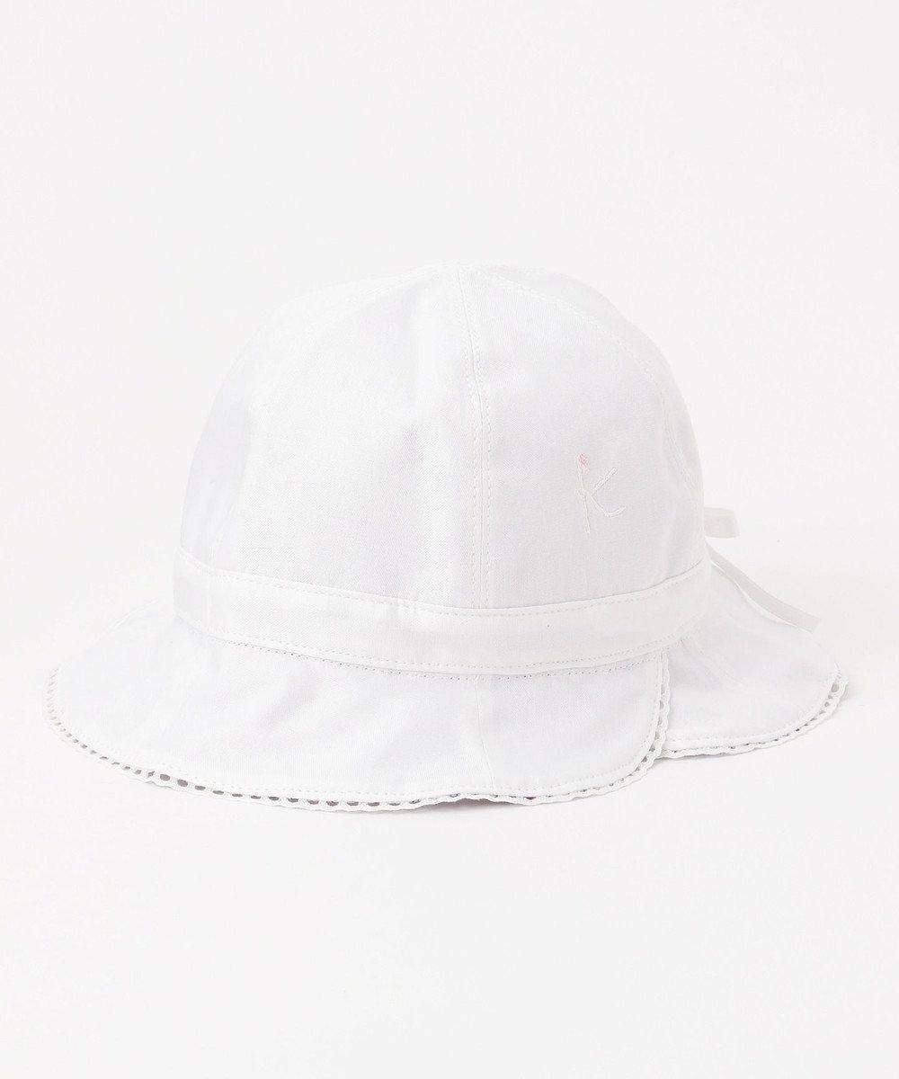 組曲 KIDS 【BABY雑貨】ラパンフラワーPt ハット (リバーシブル&UVケア) アイボリー系