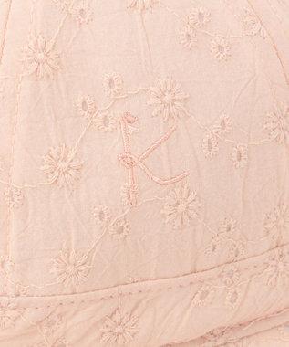 組曲 KIDS 【BABY雑貨】レース×シャンブレー ハット ピンク系