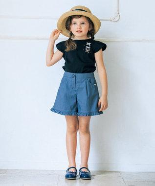 TOCCA BAMBINI 【WEB限定カラー有/KIDS雑貨】ラフィアフワッシュ ハット ネイビー系