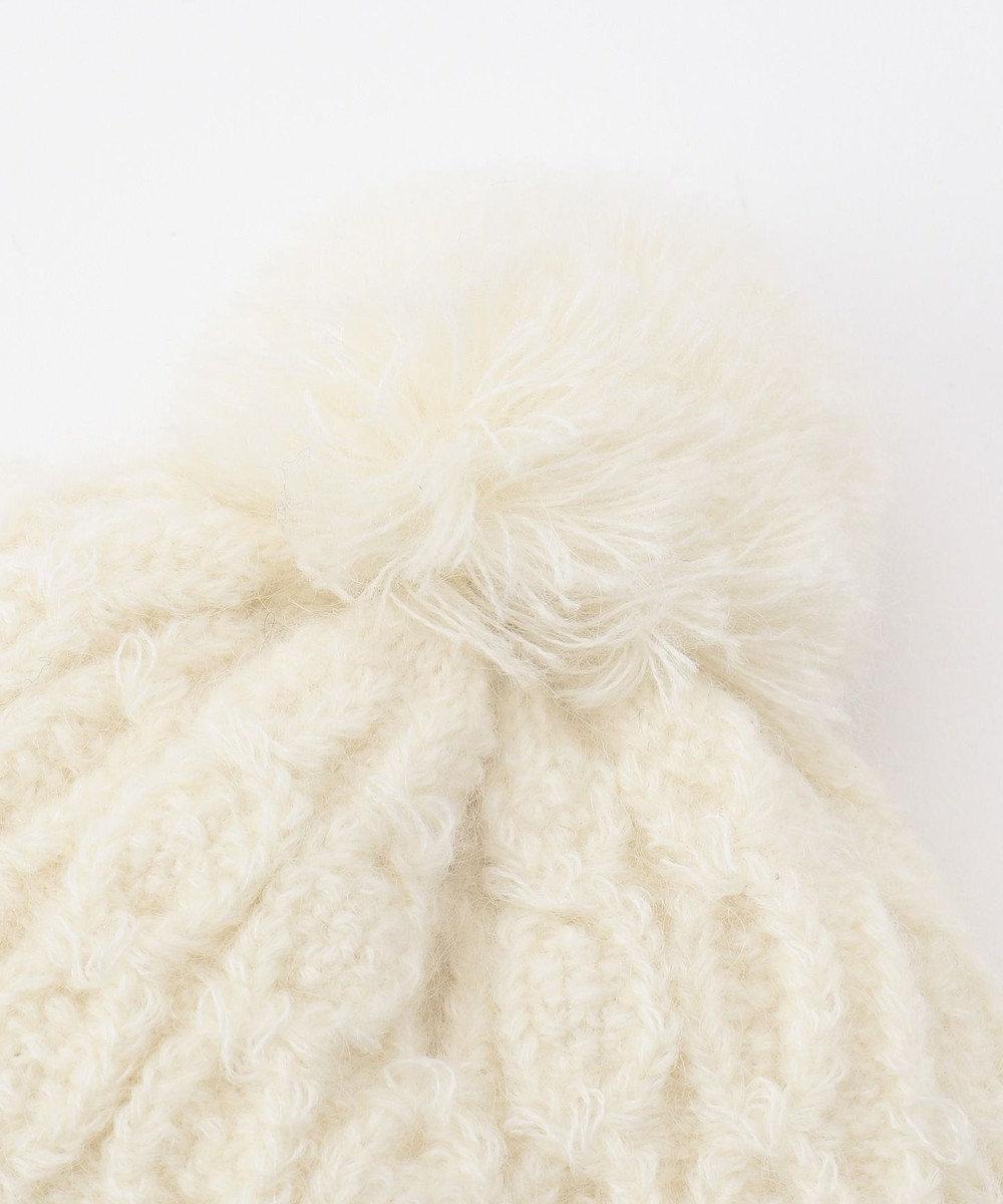 TOCCA BAMBINI ケーブルリボン ニット帽 アイボリー系