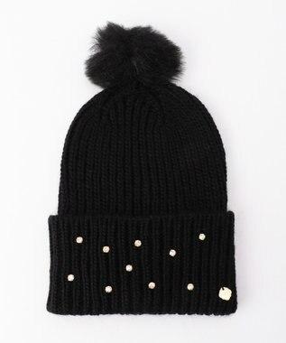TOCCA 【FERRUCCIO VECCHI】FUR POM KNIT CAP ニット帽 ブラック系
