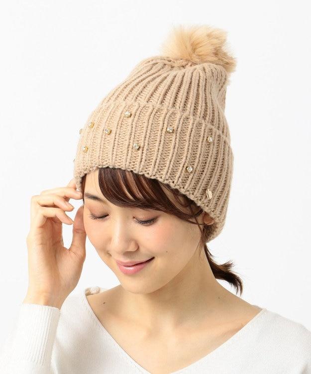 TOCCA 【FERRUCCIO VECCHI】FUR POM KNIT CAP ニット帽