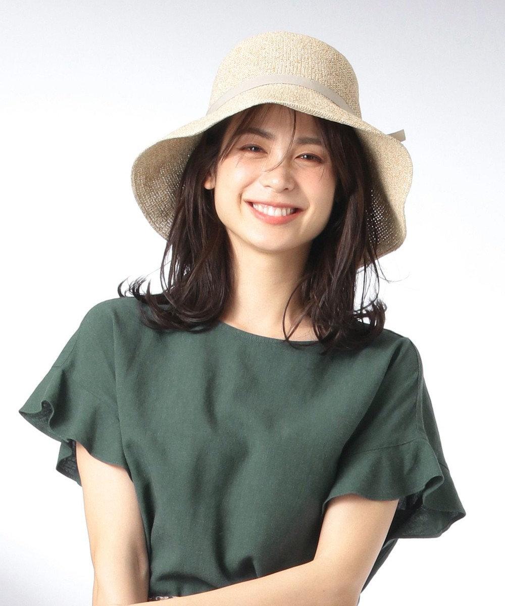 any FAM 【UVケア】【抗菌防臭】ペーパーキャペリン ハット ベージュ系