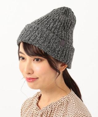 any FAM 【2WAY】リブ編み ニット帽 ブラック系1