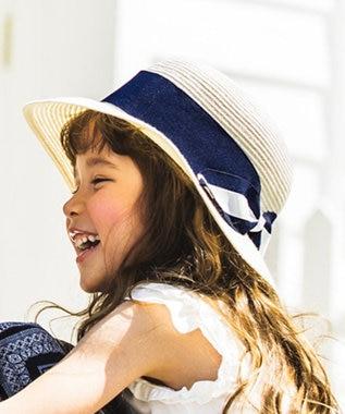 any FAM KIDS 【KIDS雑貨】洗える UVケア ブレード ハット ネイビー系1