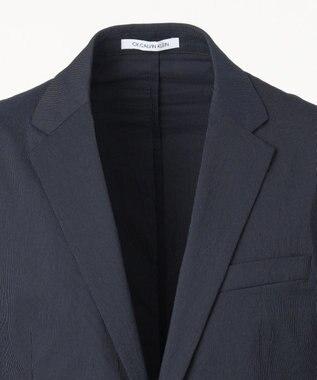 CK CALVIN KLEIN MEN 【セットアップ】ヘアライン ハイパーストレッチ ナイロン ジャケット ネイビー系1