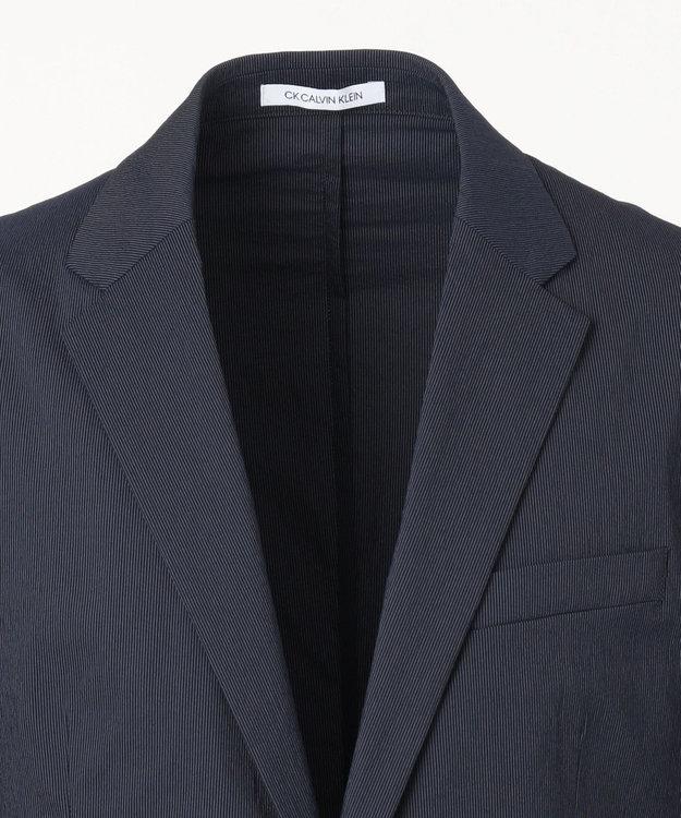 CK CALVIN KLEIN MEN 【セットアップ】ヘアライン ハイパーストレッチ ナイロン ジャケット