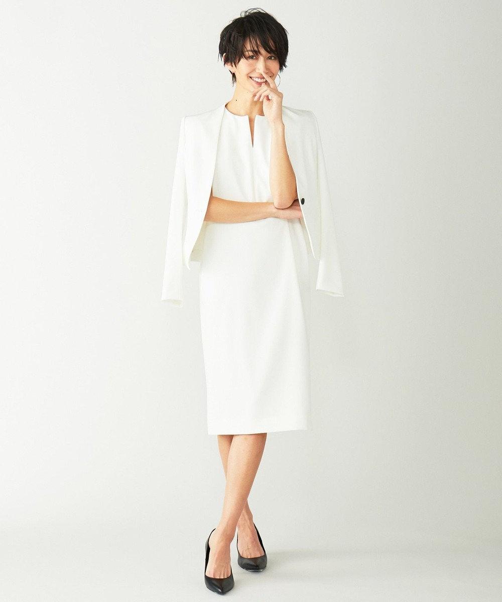 BEIGE, 【限定色あり】LUIZA / ノーカラージャケット White