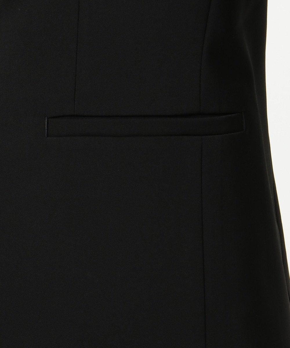 ICB L 【洗えるセットアップ】Fied ノーカラージャケット ブラック系