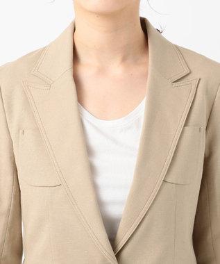 ICB 【セットアップ】Flax Stretch ジャケット ベージュ系