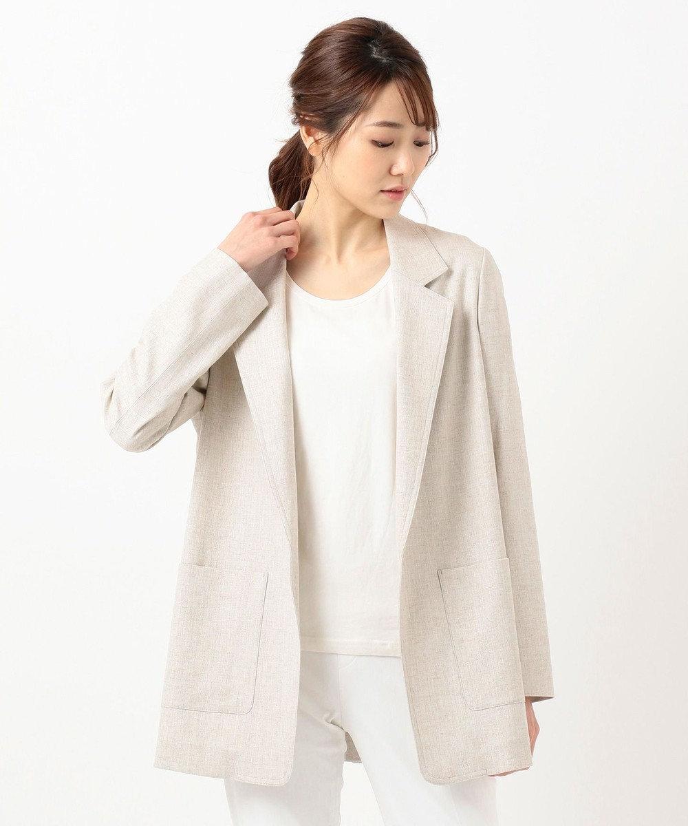 ICB 【浅見れいなさん着用】Synthetic Linen ジャケット ライトベージュ系