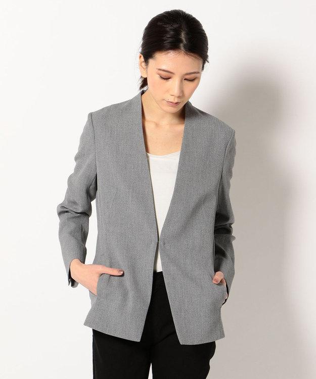 ICB 【セットアップ/洗える】【CLASSY.4月号掲載】Fied ノーカラー ジャケット